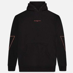 shadow hill red metallic flame hoodie